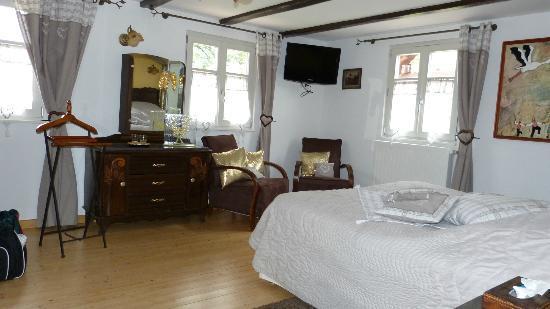 Oberschaeffolsheim, Frankrig: Blick vom Bett aus nach rechts