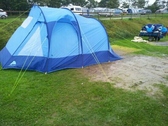 Trevella Holiday Park: our swamp.. i mean pitch!