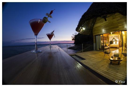 Madirokely, Madagascar: La terrasse d'un lodge de luxe