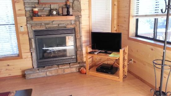 Mogollon Resort Cabins: TV worked great... fireplace didn't.