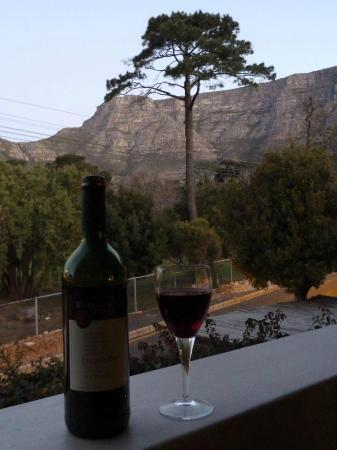 Cactus House: Sipping South African wine on my balcony after a long day of hiking up Table Mountain.