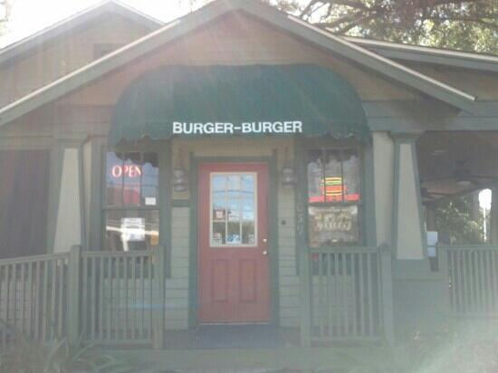 Burger Burger: Front with the patio to the right