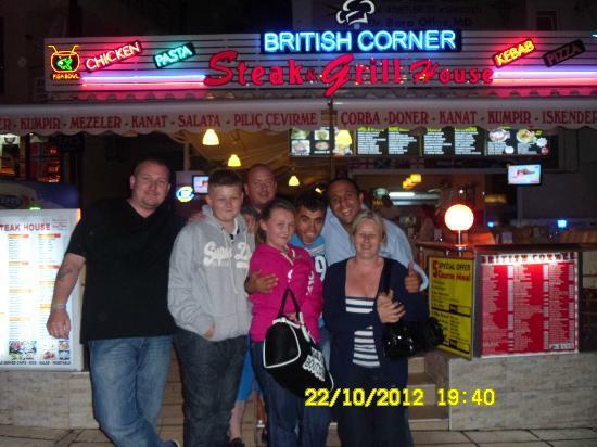 British Corner: the boys with us