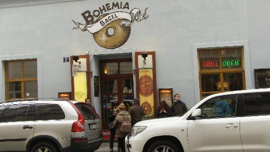 Bohemia Bagel Masna : Fachada del restaurante