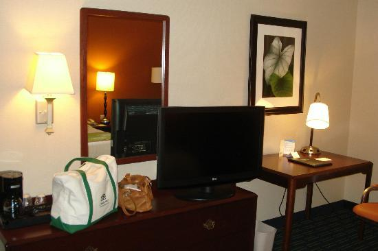 Fairfield Inn & Suites Frankenmuth: across from the bed