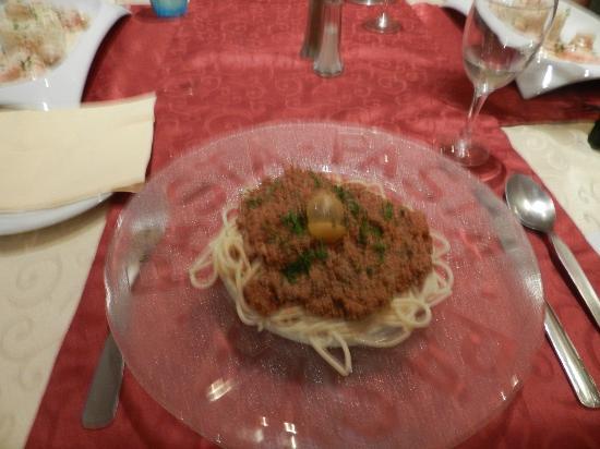 La Cene: Spaghetti Bolognese--a little bland