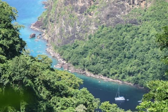 Fond Doux Plantation & Resort: view from the top of the trail to view the Pitons