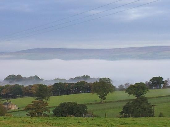 Chevin End Guest House: what a stunning effect the mist made across the valley