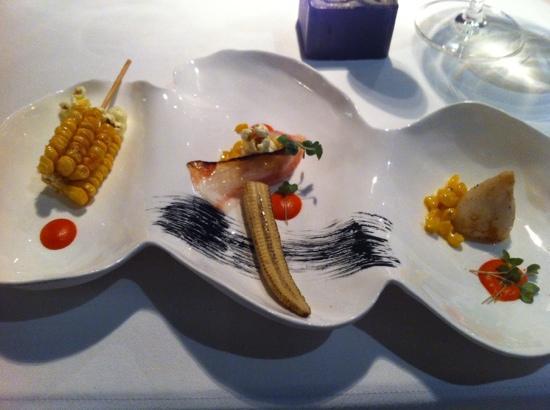 Mraz & Sohn: il calamaro in zuppa di mais e variazioni