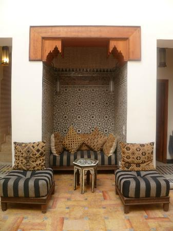 Riad Trois Cours: lounge/sitting area
