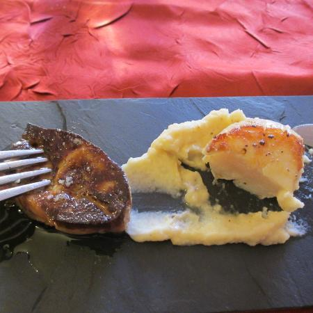 Buzet-sur-Baise, France : seared foie gras, scallops, celery root