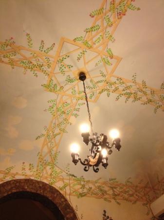 la casetta del poeta : particolare del soffitto
