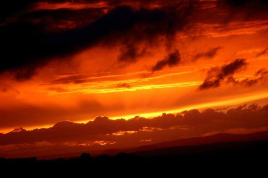 Azienda Agrituristica Bio Le Macchie Alte: coucher de soleil sur la ferme