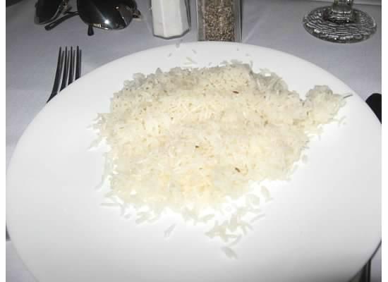 Bombay Las Vegas Indian Cuisine: white rice