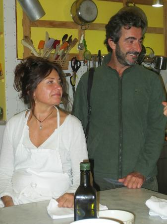 Tasty Tuscany: Pat and Paolo, our hosts