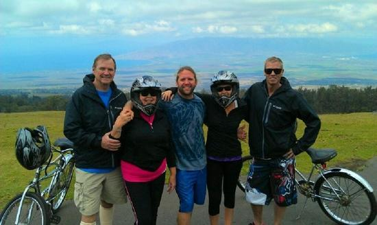 Maui Easy Riders: having a blast riding down Haleakala with the Billy's!