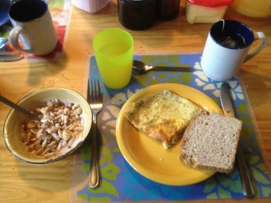 Erratic Rock: A hiker's breakfast indeed