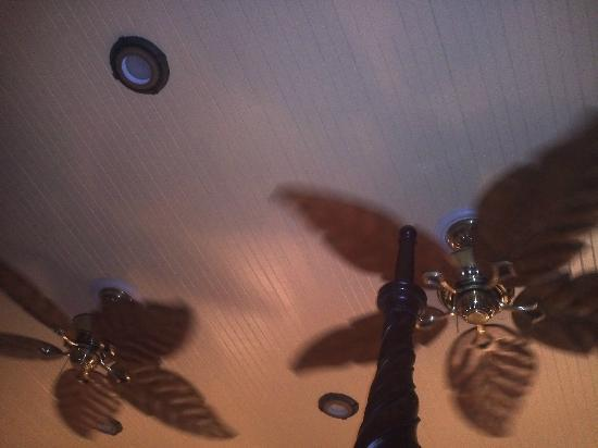The Duval Inn: Beautiful celing fans in room.
