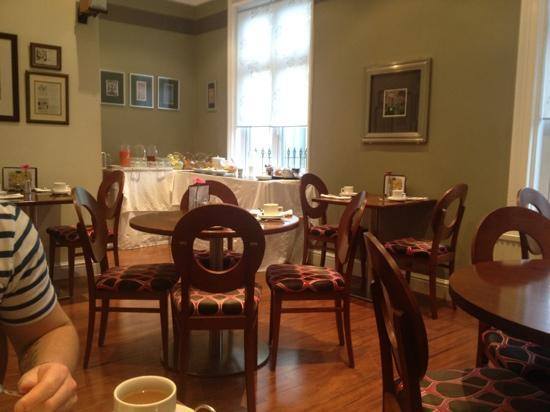 The Helaina: dining area. help yourself to fruit juice and cereal etc