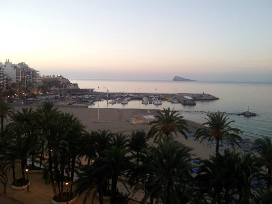 Hotel Montemar: early morning view from the balcony to the marina