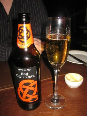 Preston House Restaurant and GuestHouse: Irish Cider