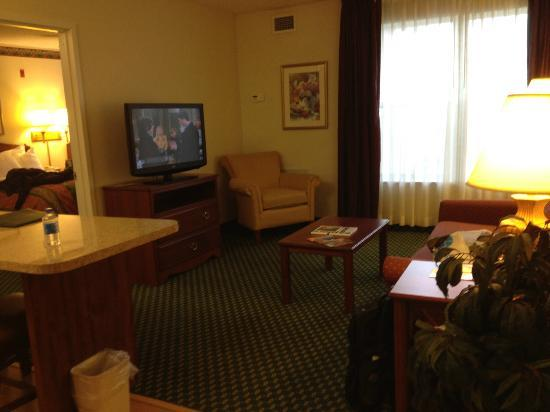 Homewood Suites by Hilton Rochester / Henrietta: New flat screen TV since our last stay