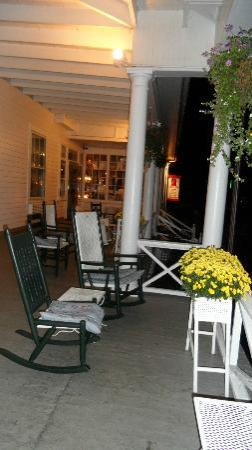 The Red Lion Inn: Front Porch at Night