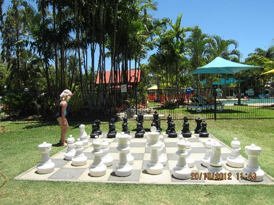 Giant Chess By The Pool Picture Of Big4 Adventure Whitsunday