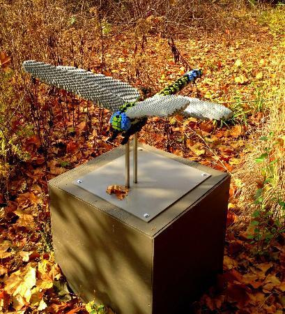 Reiman Gardens: Dragonfly Lego sculpture