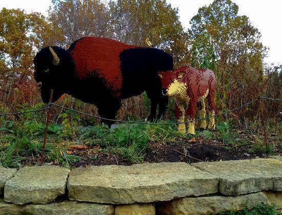 Reiman Gardens: Bison Lego sculpture