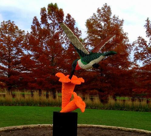 Reiman Gardens: Hummingbird Lego sculpture