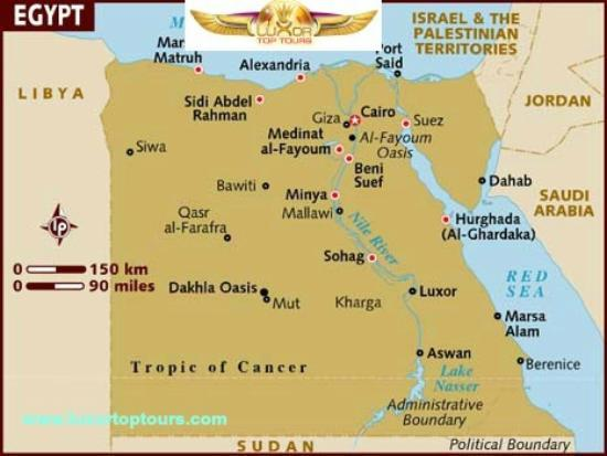 Egypt Map Www Luxortoptours Com Picture Of Luxor Top Tours Luxor