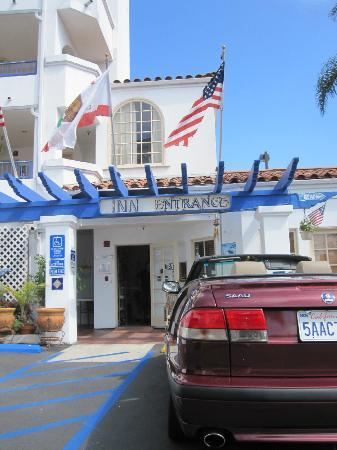 The Little Inn by the Beach: Front Entrance and My Car