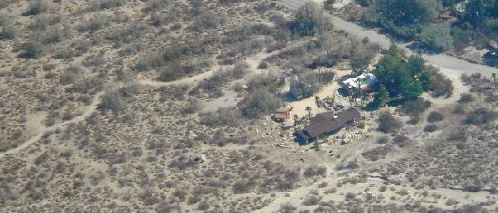 Casa de los Desperados: Our rancho as seen from the air