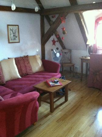 Castle View Apartments: Sofa