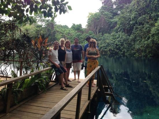 Village de Santo Resort : Ready for a swim at one of the Blue Holes