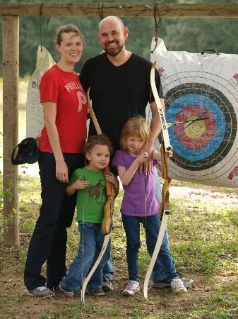 BlissWood Bed and Breakfast Ranch: After some fun archery