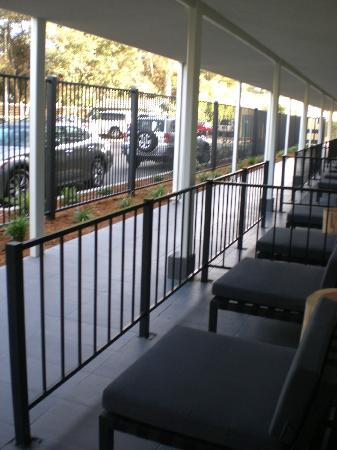 Hotel Paradox, Autograph Collection: Outdoor sitting area for ground floor rooms, facing parking lot