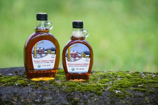 Hidden Springs Maple: Organic maple syrup available in the farm store and on our web site www.hiddenspringsmaple.com