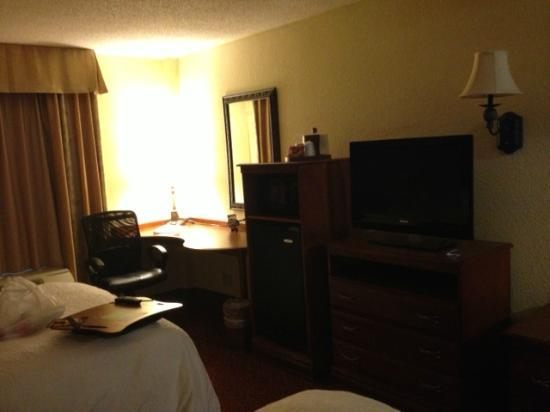 Hampton Inn & Suites Grenada : flat screen tv and microwave with popcorn a plus!