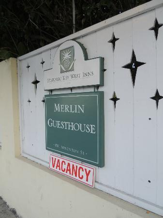 Merlin Guest House Key West: outside sign
