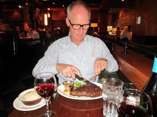 Cutting A Porterhouse Steak Picture Of Wildfire Chicago