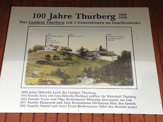 Restaurant Thurberg : 100 Jahre Thurberg