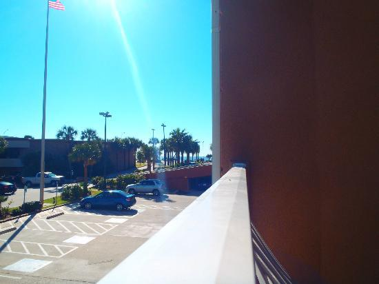 "Quality Inn & Suites Beachfront: This is the ""partial Gulf view"""
