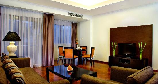 Living Room In 2 Bed Room Suites Picture Of Aston At Kuningan