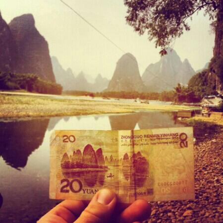 20 RMB picture place just up the river from XingPing - Xingping