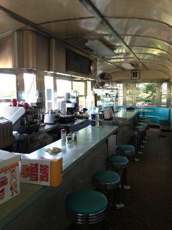 West Bay Diner: Inside the diner car part of the restaurant.