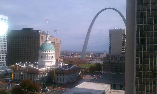 Hilton St. Louis at the Ballpark: View of the Arch from my window at the Hilton.