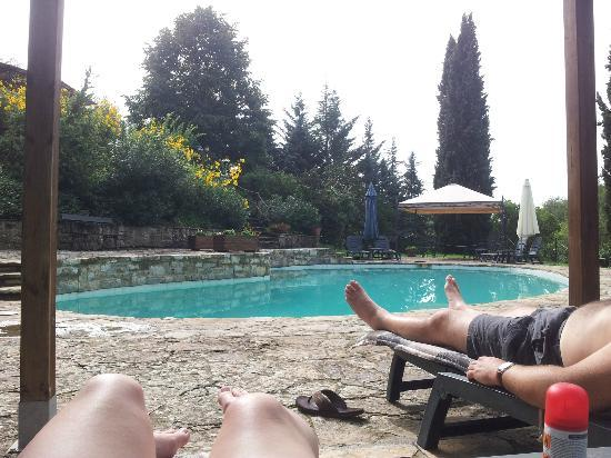 Podere Cogno: Lounging by the lovely pool