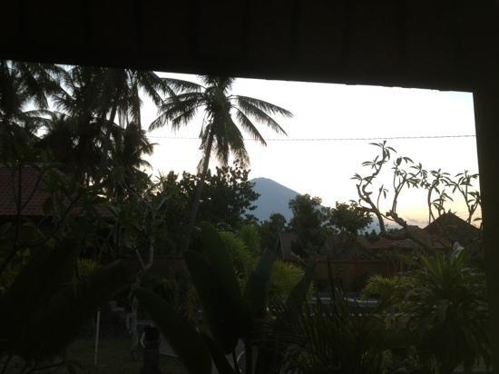 Citra Lestari Cottages: view from the bed in room 4